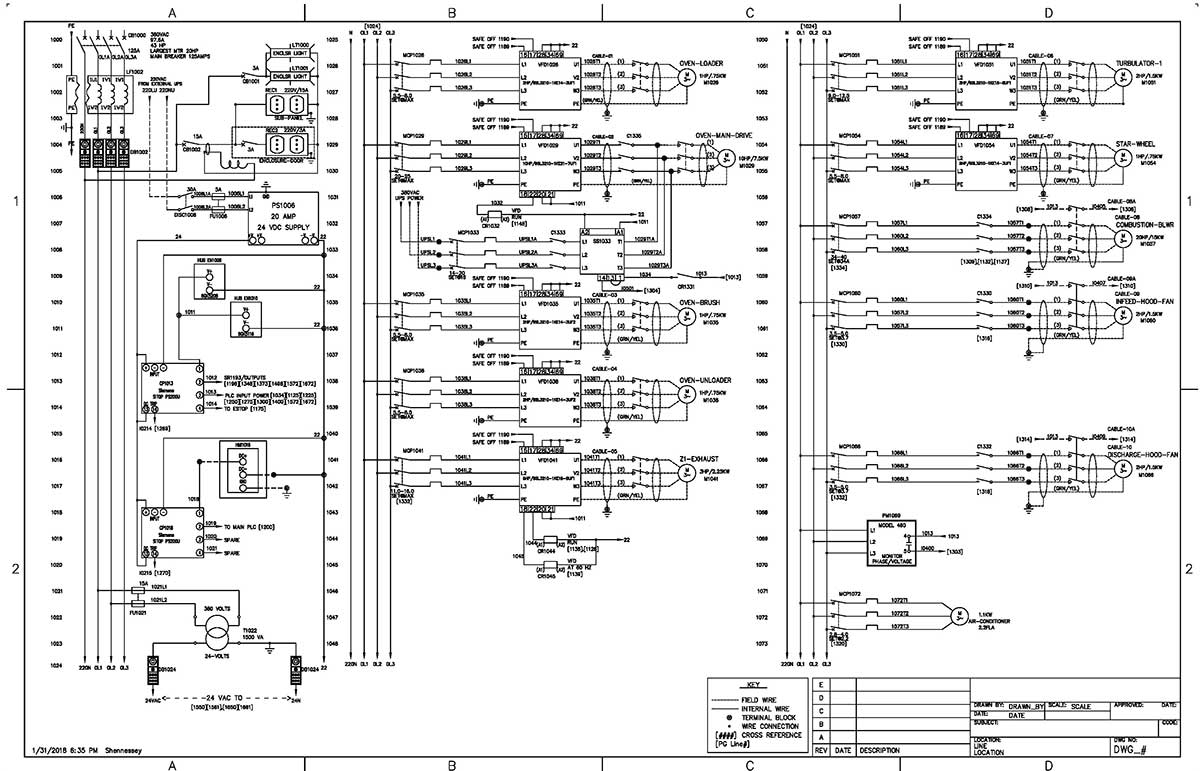 Control Panel Engineered Services Horlick Schematic Wiring Diagrams Compared To Quotladderquot Motor Power Diagram